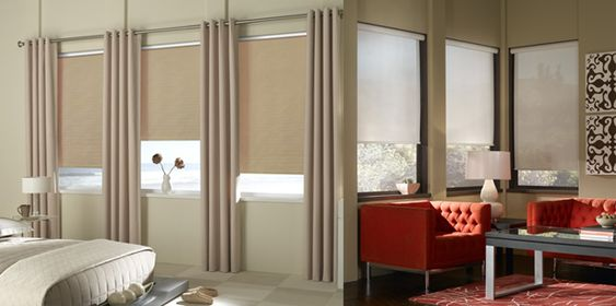 Roller Shades And Curtains Together For The Home