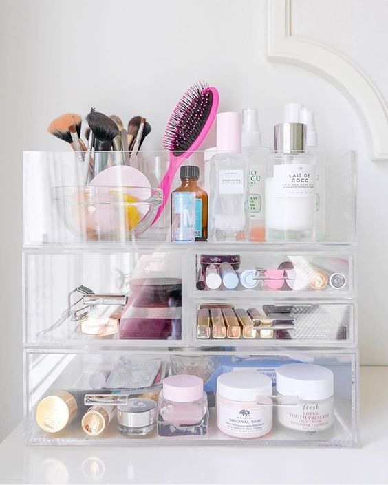 5 Storage Solutions For Small Bathrooms In 2020 Makeup Drawer Organization Bathroom Makeup Storage Bathroom Organisation