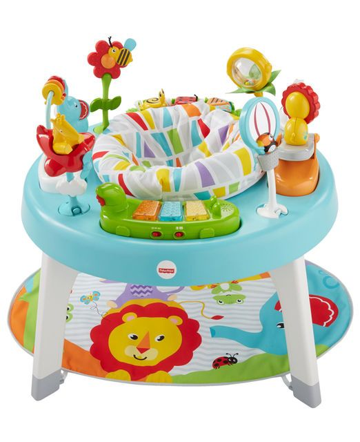 Fisher Price 3 In 1 Sit To Stand Activity Center From Tummy Time To Sitting And Spinning To Standin Baby Activity Center Activity Centers Infant Activities