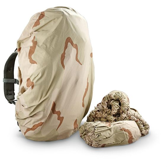5 New U.S. Military Surplus Pack Covers, 3-Color Desert Camo - 1683794, Tactical Backpacks & Bags at Sportsman's Guide