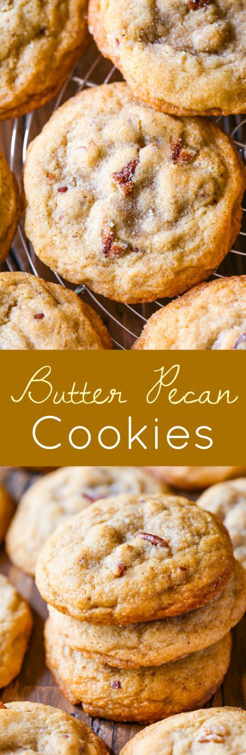 The softest, chewiest, most flavorful cookies with buttery toasted pecans. Amazing, absolutely amazing!