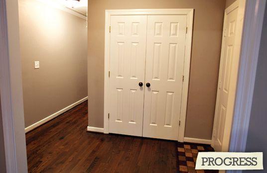 Foyer Closet Doors : Foyer closet with double doors expand small closets
