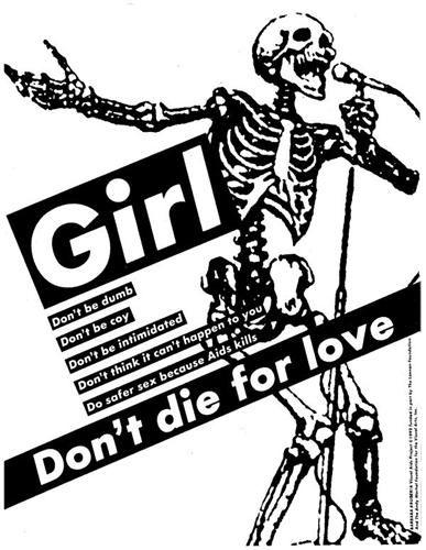 Untitled (Girl, Don't Die for Love) - Barbara Kruger