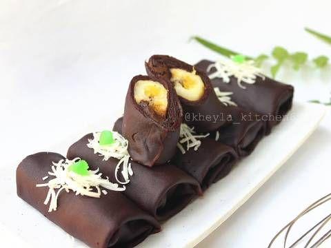 Resep Dadar Gulung Coklat Isi Pisang Enak Banget Kheyla Oleh Kheyla S Kitchen Resep Resep Pisang Kue Dadar