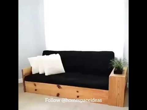 Diy Sofa Bed Keren Youtube Diy Sofa Bed Diy Sofa Rv Sofa Bed