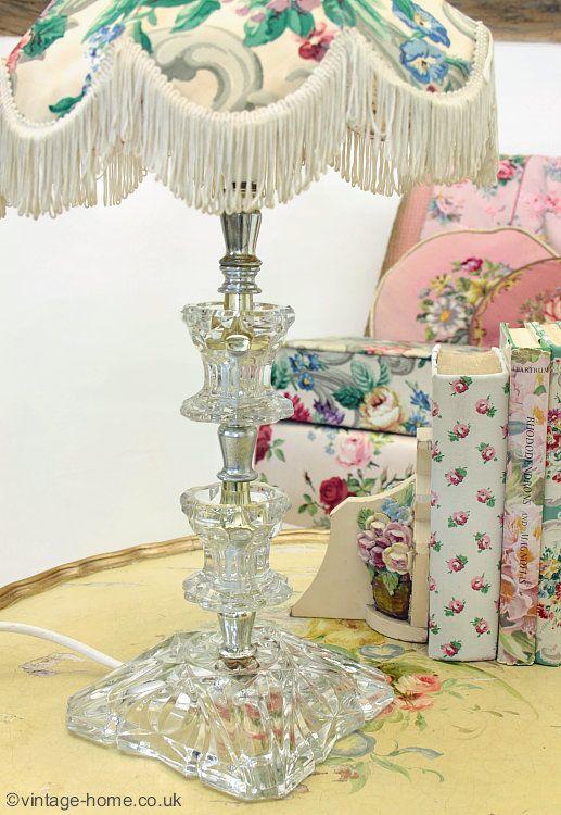 Vintage Home Shop - Pretty Vintage Glass Lamp Base: www.vintage-home.co.uk