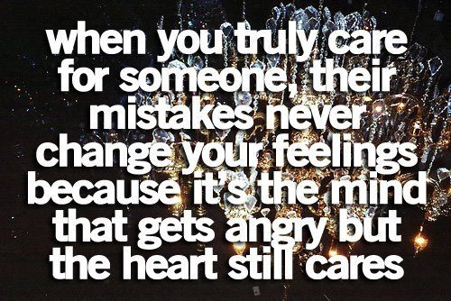 and if those feelings do change, it's safe to assume the love was never real.
