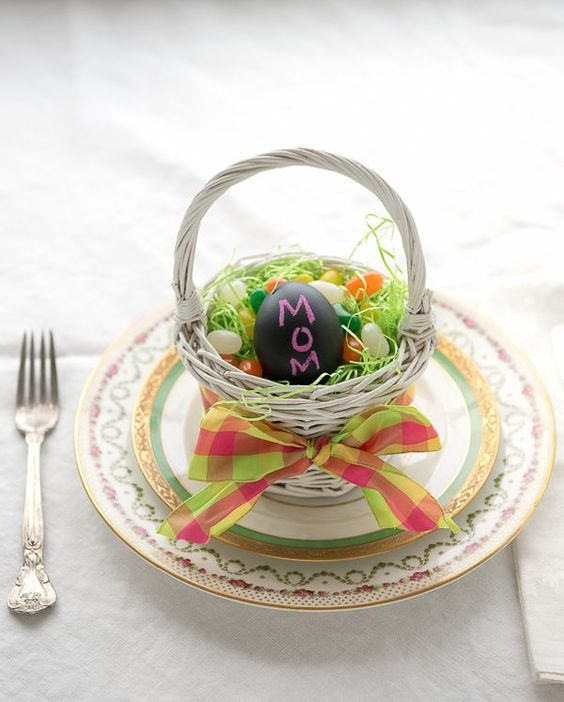 Chalkboard Easter Egg Table Place Holder - BoulderLocavore.com