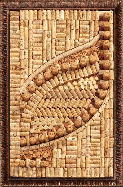 It's all about the THE LIFE THEORY - laugh as much as you breathe and love as much as you live!: ART from vine corks!
