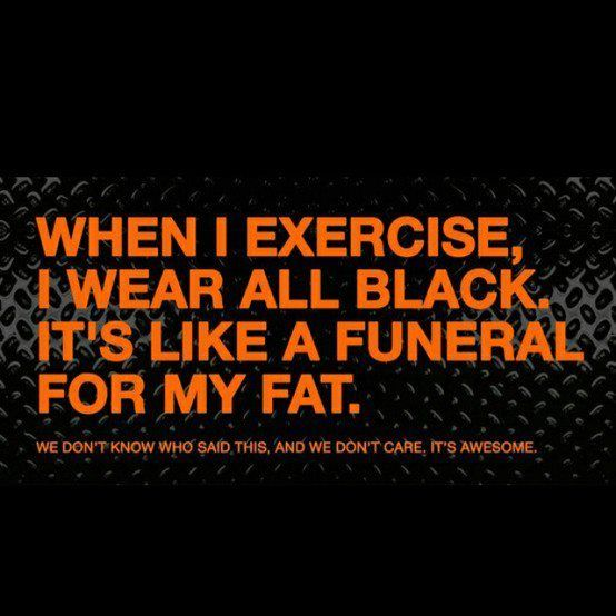 Ha ;)  I always said it was because it made me look skinnier, but I'm using the Fat Funeral explanation from now on!!