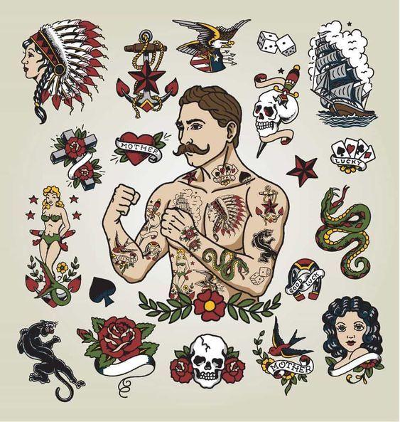 American Traditional Tattoo Jpg 973 1024 Old School Tattoo Designs Vintage Tattoo Traditional Tattoo Sleeve