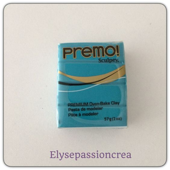 PÂTE PREMO SCULPEY 57 Gr TURQUOISE REF/55505 : Pâtes polymères et accessoires par elyse-passion-crea
