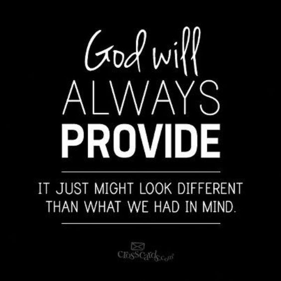 God will always provide