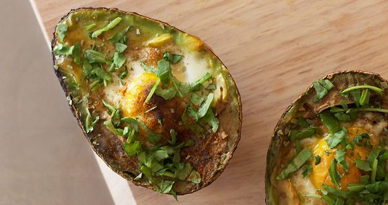 Baked Eggs in Avocados   REstyleSOURCE