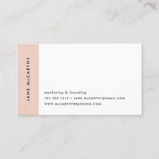 Modern Minimal Business Cards Blush Zazzle Com In 2021 Minimal Business Card Business Cards Watercolor Makeup Artist Business Cards