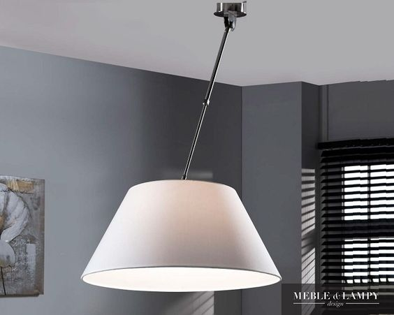 Outlet Meblowy • Plafon lampa sufitowa na wysięgniku biała| Meble & Lampy Design: