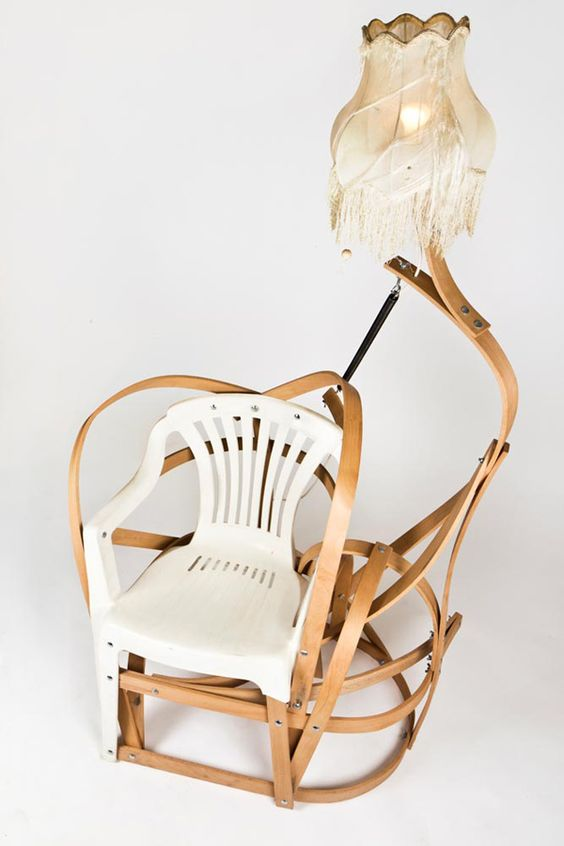 upcycled chair - breadedEscalope, Love me bender