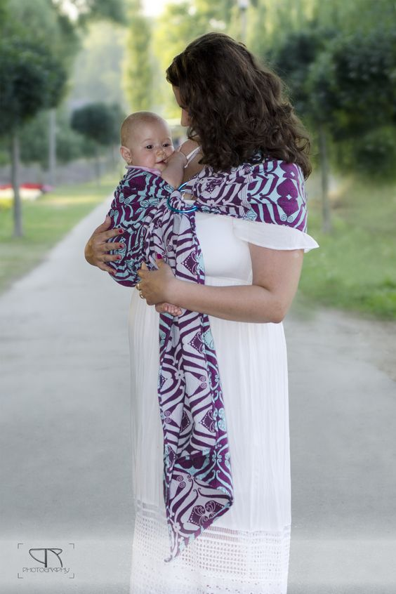 Pink hearts bloom Ring Sling