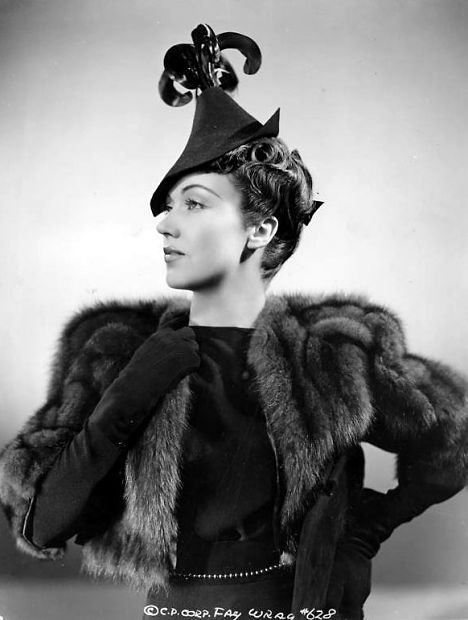 Fay Wray  #vintage #hat #fashion #fur #gloves