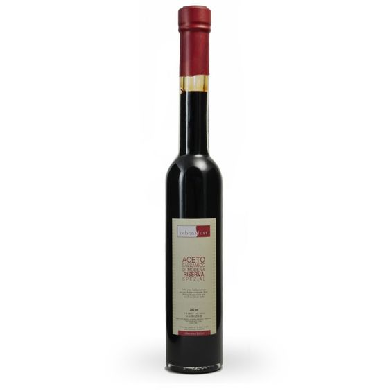 Aceto Balsamico di Modena 200ml RISERVA SPECIALE LEBENSLUST EDITION - Einfach zum Salat oder mit Mozarella, Tomaten und Basilikum.