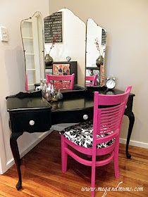 I have always wanted a girly tri mirror vanity.  Not sure I'd ever use it but it was one of those things I coveted as a girl.