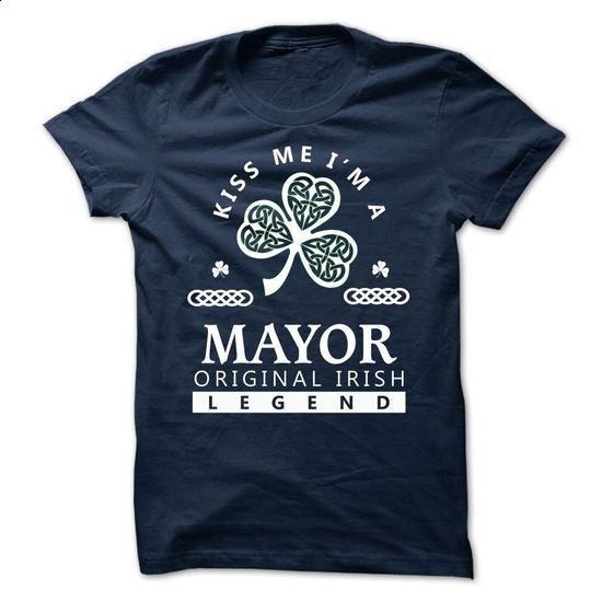 MAYOR - KISS ME IM Team - make your own t shirt #sweatshirt zipper #christmas sweater
