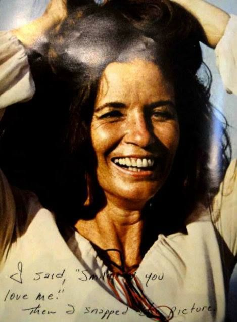 Pic of June taken by Johnny Cash Note reads: 'I said 'Smile, do you love me? Then I snapped the picture'