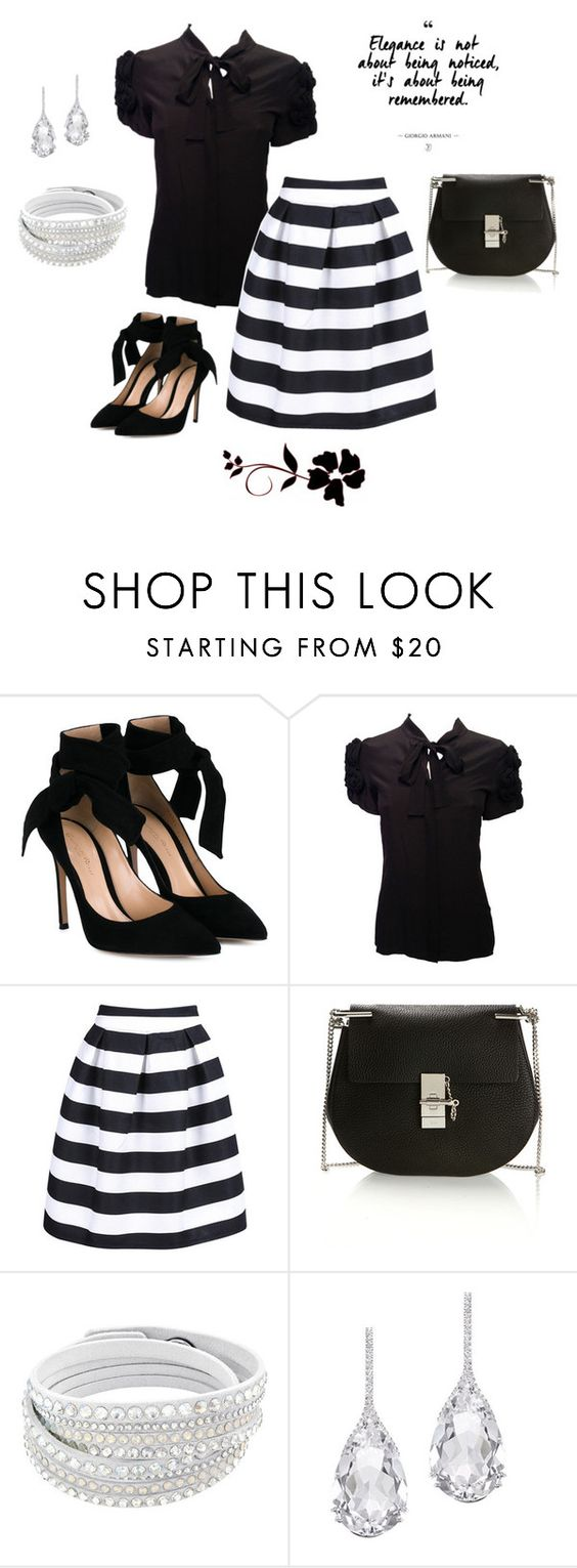 """Untitled #221"" by peggysoans ❤ liked on Polyvore featuring Gianvito Rossi, Chloé and Plukka"