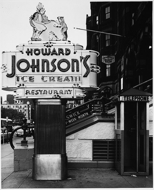 Howard Johnson's neon sign - Copley Square, Boston, MA