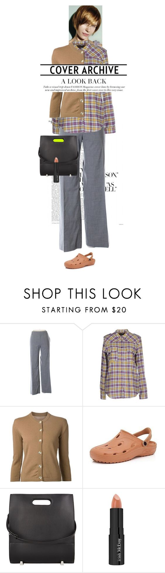 """my real outfit today"" by akchen ❤ liked on Polyvore featuring Banana Republic, M.GRIFONI DENIM, Lucien Pellat-Finet, Alexander Wang and Trish McEvoy"