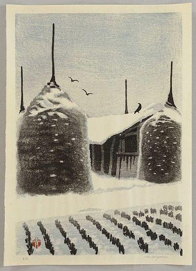 Masaharu Aoyama 1893-1969 - Hay Stacks