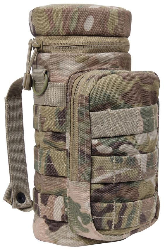 """MultiCam MOLLE Compatible Water Bottle Pouch 11"""" Hunting Camping Tactical Pouch"""