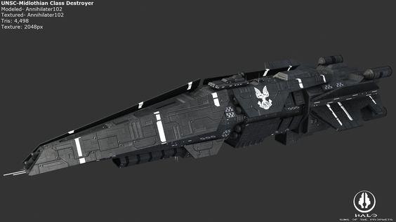 UNSC Midlothian Destroyer by Annihilater102.deviantart.com on @deviantART