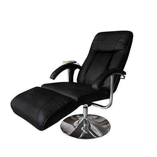 vidaXL Fauteuil de Massage et de Relaxation électrique Noir