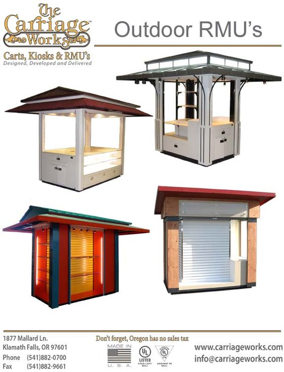 Coffee carts hot dogs and retail on pinterest for Exterior kiosk design