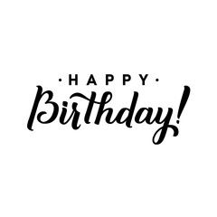 Happy Birthday To You Calligraphy Greeting Card Hand Lettering