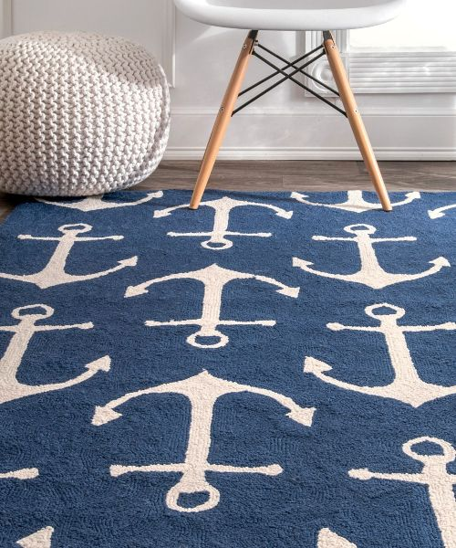 Home Is Where The Anchor Drops Decor Ideas Anchor Decor Area Rug Decor Nautical Rugs