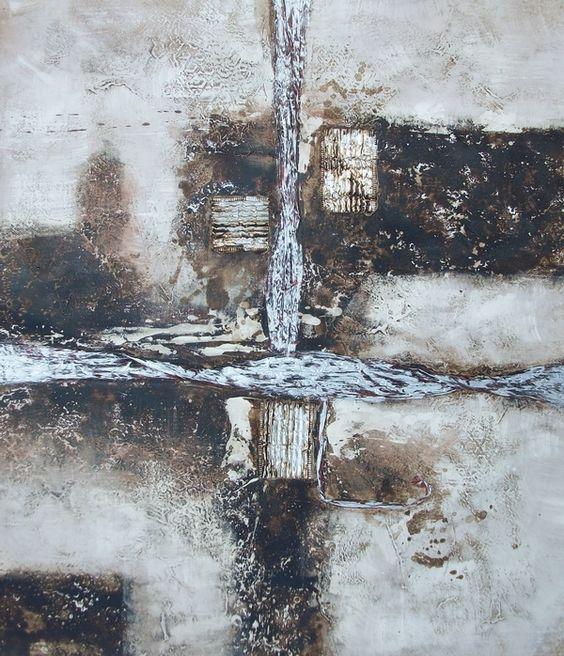 Peinture abstraite grise tableau peinture abstrait gris for Toile abstraite