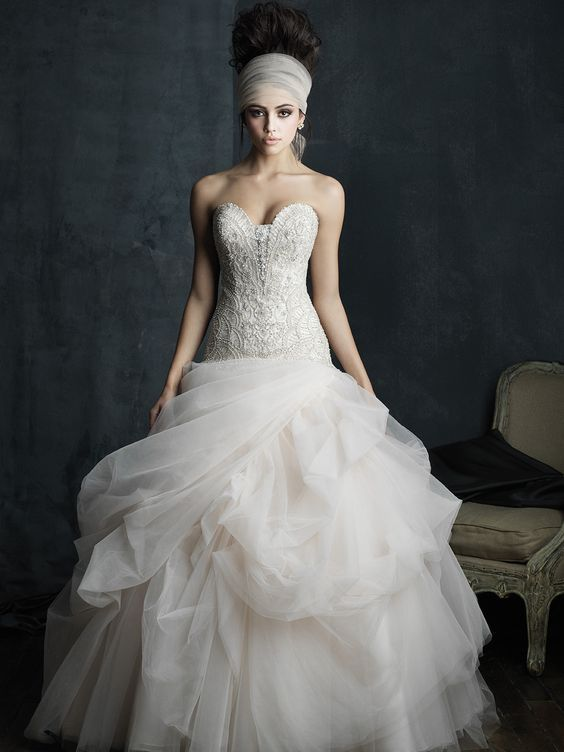 Wedding dress idea; Featured Dress: Allure Bridals