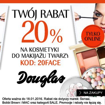 DOUGLAS kod rabatowy na -20% na produkty do makijażu!