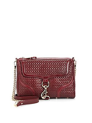 Rebecca Minkoff Quilted Leather Mac Bombe Clutch