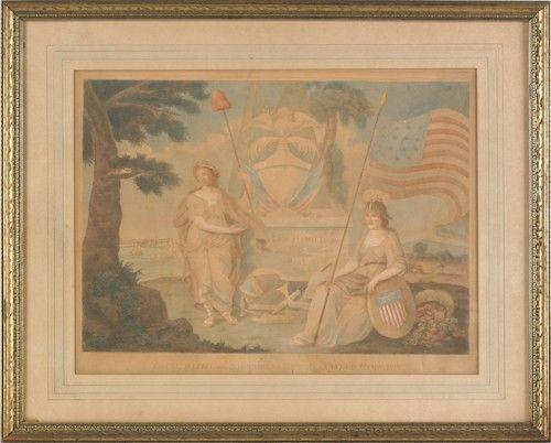 Alexander Hamilton memorial aquatint, by I. Scole :
