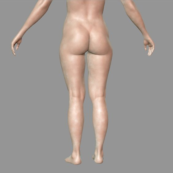 ArtStation - Butt likeness 3d , Zlost666 .