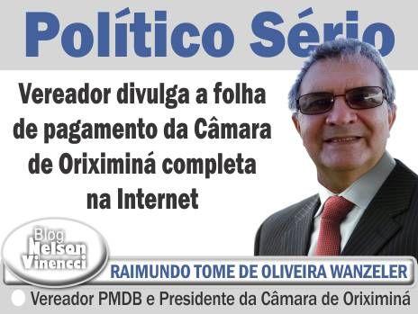 .: Vereador cumpre Lei da Transparência em cidade do Pará