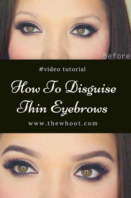 Eyebrow Tutorial For Thin Eyebrows Video Instructions Thin Eyebrows Eyebrow Tutorial Eyebrows