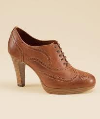 high heel oxfords
