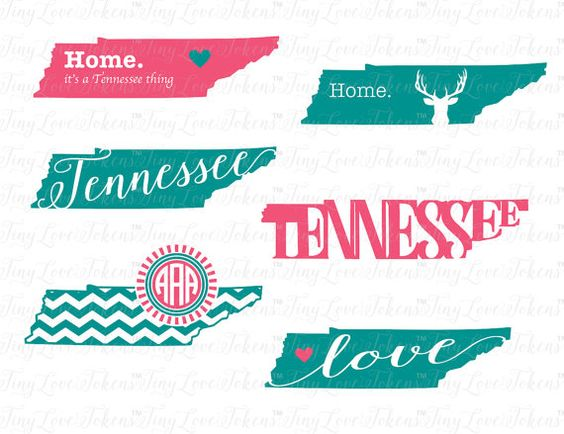 Tennessee Life SVG Design for Silhouette and by TinyLoveTokens