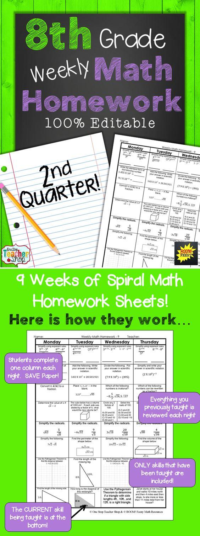 Homework help math 8th grade
