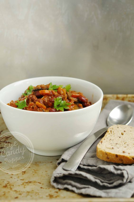 45 min healthy chili, with meat or vegan option