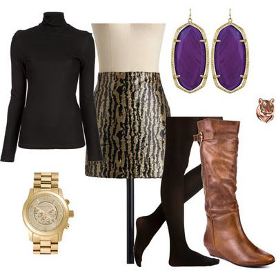 The perfect gameday outfit - great job Lenzi!! Geaux Tigers! Beat Bama Again!